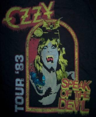 OZZY OSBOURNE cd cv SPEAK OF THE DEVIL Official Babydoll SHIRT LAST LRG New oop