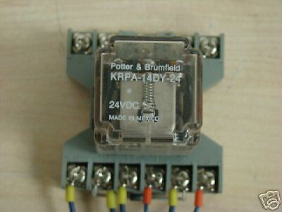 POTTER AND BRUMFIELD KUP-14D15-24 RELAY 600VAC 24VDC 3A #145226