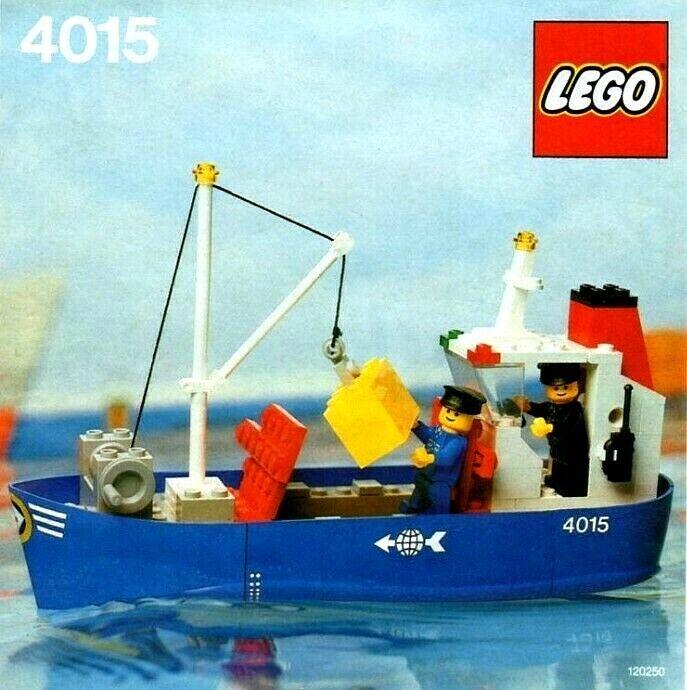 VINTAGE LEGO nave autogo 4015,  100% COMPLETO, ISTRUZIONI ORIGINALI, senza scatola 1982  prezzi equi