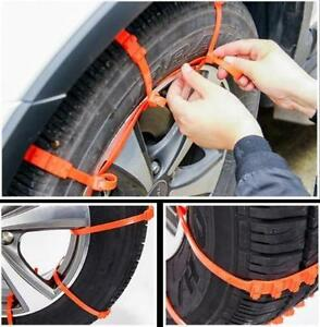 51fd75068a48 Details about 1Pc of Anti-skid Chains For Snow Mud Car Truck Wheel Tyre Tire  Cable Ties Nylon