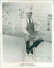 Mike Douglas with Apron and Chef's Hat Original News Service Photo