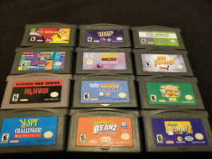 12-GBA-Puzzle-Game-Lot-Authentic-Cleaned-amp-Tested-Nintendo-GBA