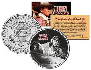 JOHN-WAYNE-MOVIE-Jet-Pilot-JFK-Kennedy-Half-Dollar-US-Coin-LICENSED