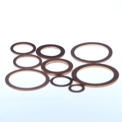 Dense Anneaux En cuivre 10x18x1 mm 50 Pièce