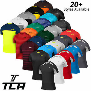 TCA-Men-039-s-Running-Top-Collection-QuickDry-Short-Sleeve-Gym-Dry-Sweat-Wicking