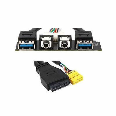 Silverstone G11303750 USB3.0 Upgrade (2xUSB3.0, 2xAudio) - 24inch USB3.0 Cable