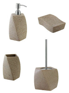 Accessori bagno pietra portasapone dispenser for Accessori bagno ebay