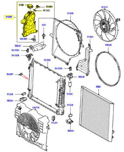 LAND ROVER RADIATOR EXPANSION TANK RANGE ROVER 10-12 LR023077
