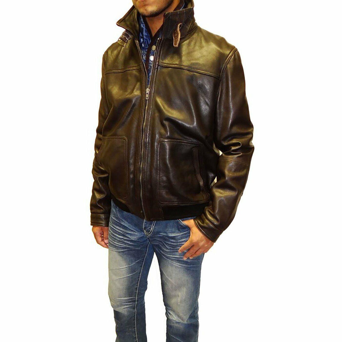 Tibor Design Bomber Leather Jacket