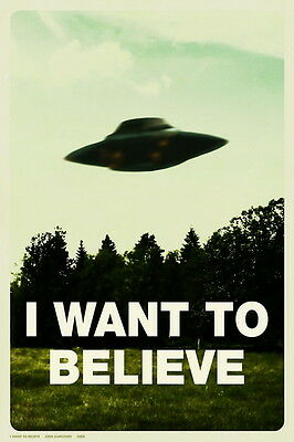"""02 I Want To Believe - X Files Art Movie Film 14""""x21"""" Poster"""