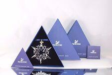 *NIB* 2007 LARGE SWAROVSKI CRYSTAL CHRISTMAS ORNAMENT STAR/SNOWFLAKE #0872200