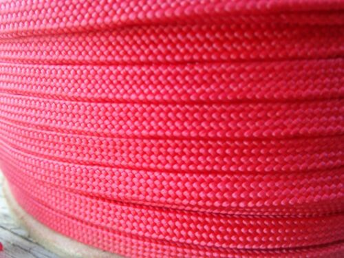 """Discounted. Hollow//Flat MFP Rope.Red 3//16/"""" x 3000 ft"""