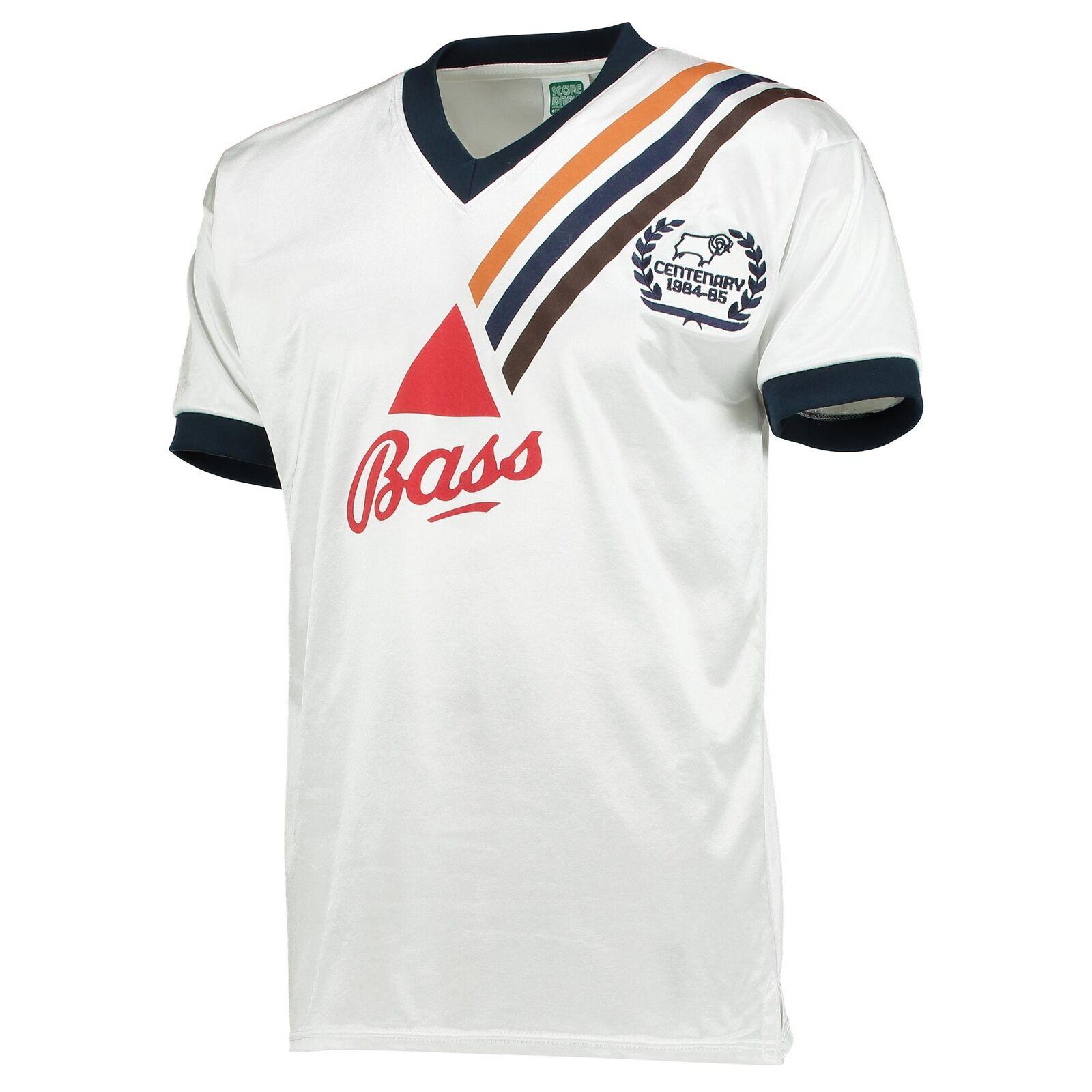 Derby County 1985 Centenary Retro Fußball Shirt Trikot Herren Sport T-Shirt Top  | Online Shop
