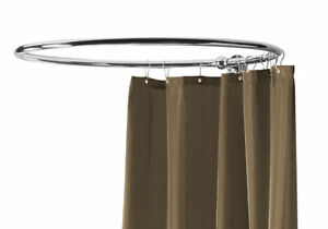 Image Is Loading Circular Shower Curtain Rail Hi Quality Nickel Platd
