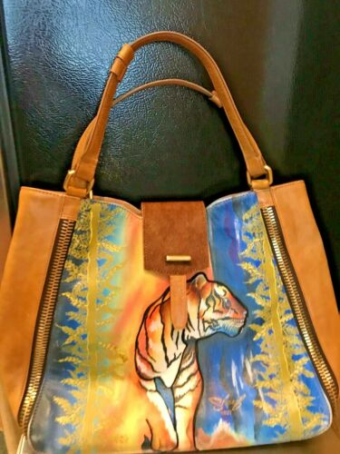 "~Sharif Hand painted Leather "" Artistic Expression"