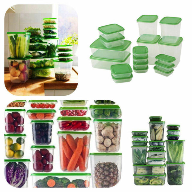 Kitchen Storage Containers For Sale: IKEA 17 Plastic Food Storage Containers Saver Container