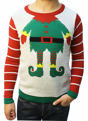 Ugly Christmas Sweater Teen Boys Rudolph LED Light Up Sweater
