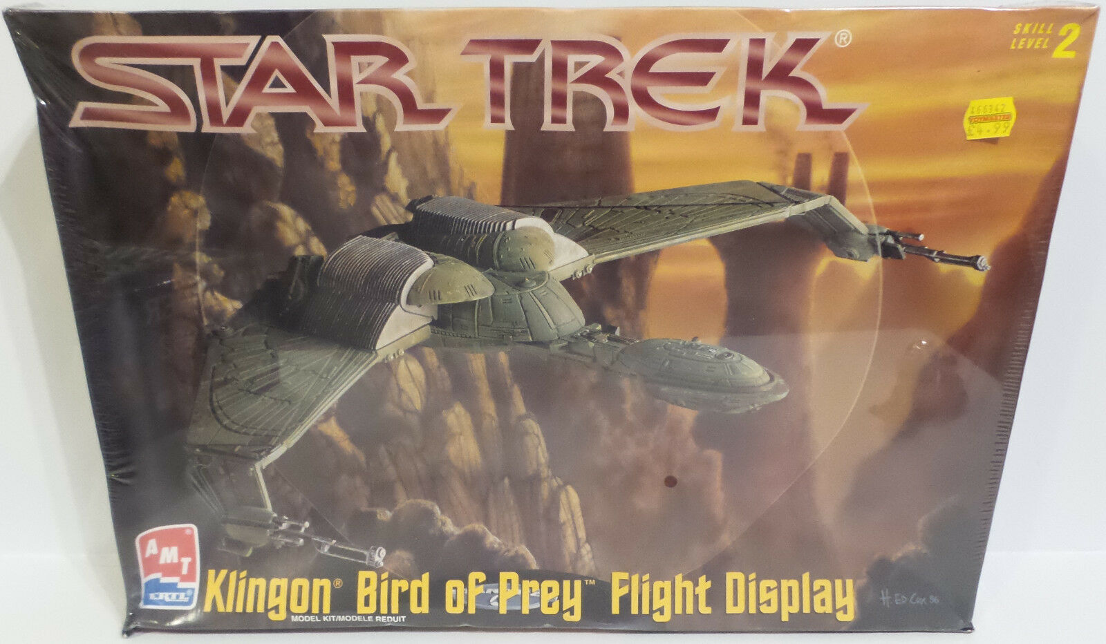 STAR TREK   KLINGON BIRD OF PREY FLIGHT DISPLAY MODEL KIT MADE IN 1997 (MH)