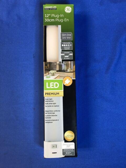 Led Slim Line Dimming Linkable Plug, Ge Led Under Cabinet Lighting