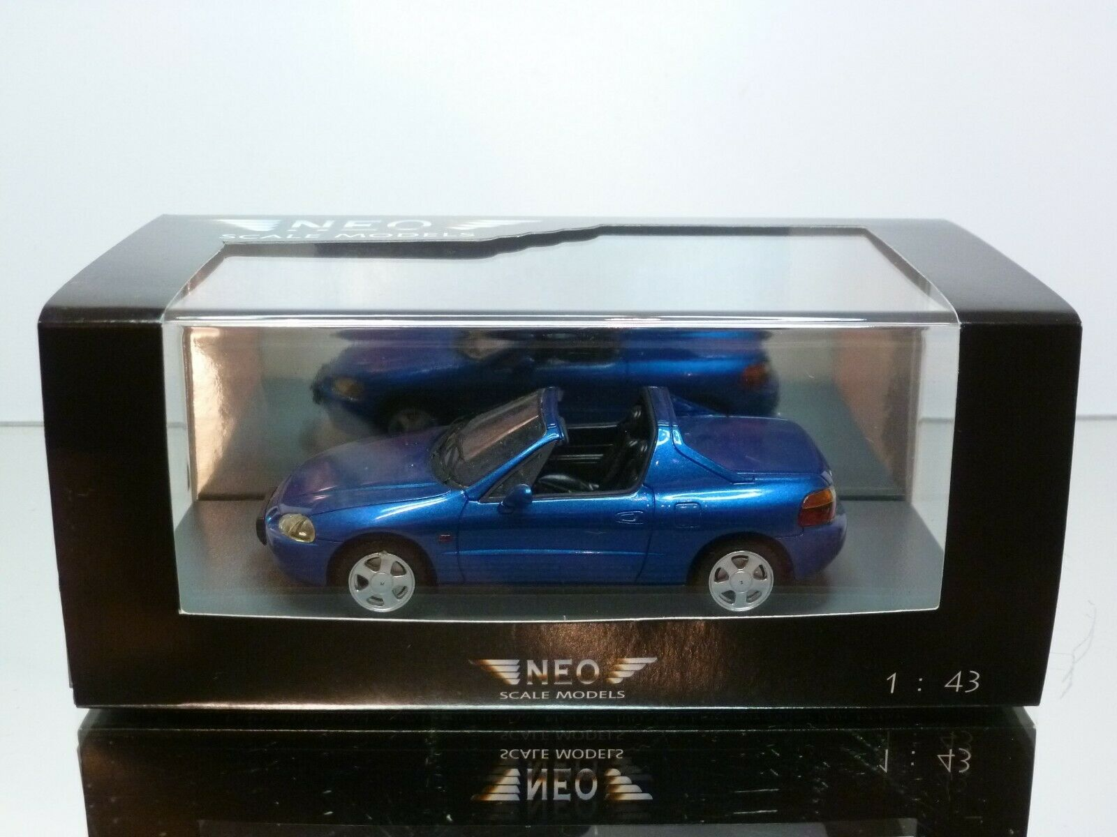 NEO MODELS 44511 HONDA CRX DEL SOL - bleu METALLIC 1 43 - EXCELLENT IN BOX