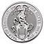 2019-Queen-039-s-Beast-Collection-The-Yale-Of-Beaufort-2-oz-9999-Silver-BU-Coin miniature 1