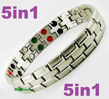 Magnetic Energy Germanium  Power Bracelet Health 5in1 Bio Armband TITANIUM