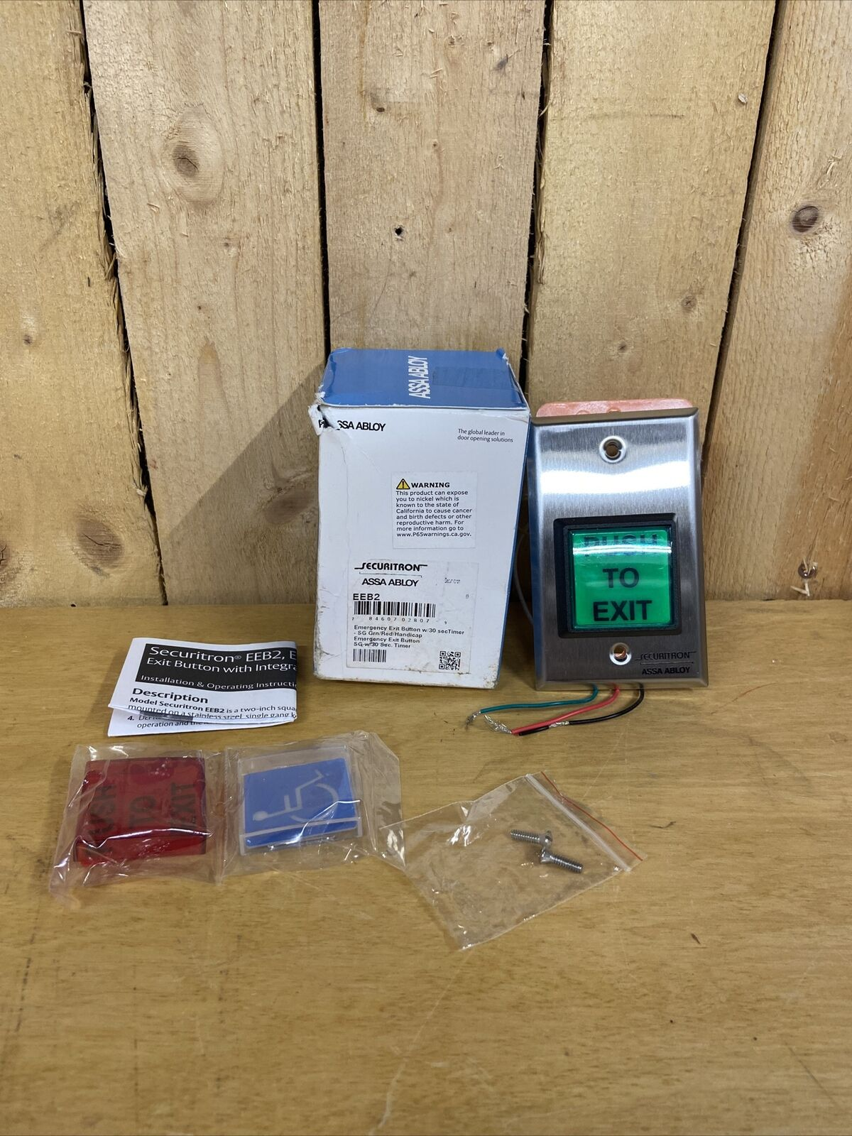 2 Securitron EEB2 Emergency Exit Button B8 for sale online