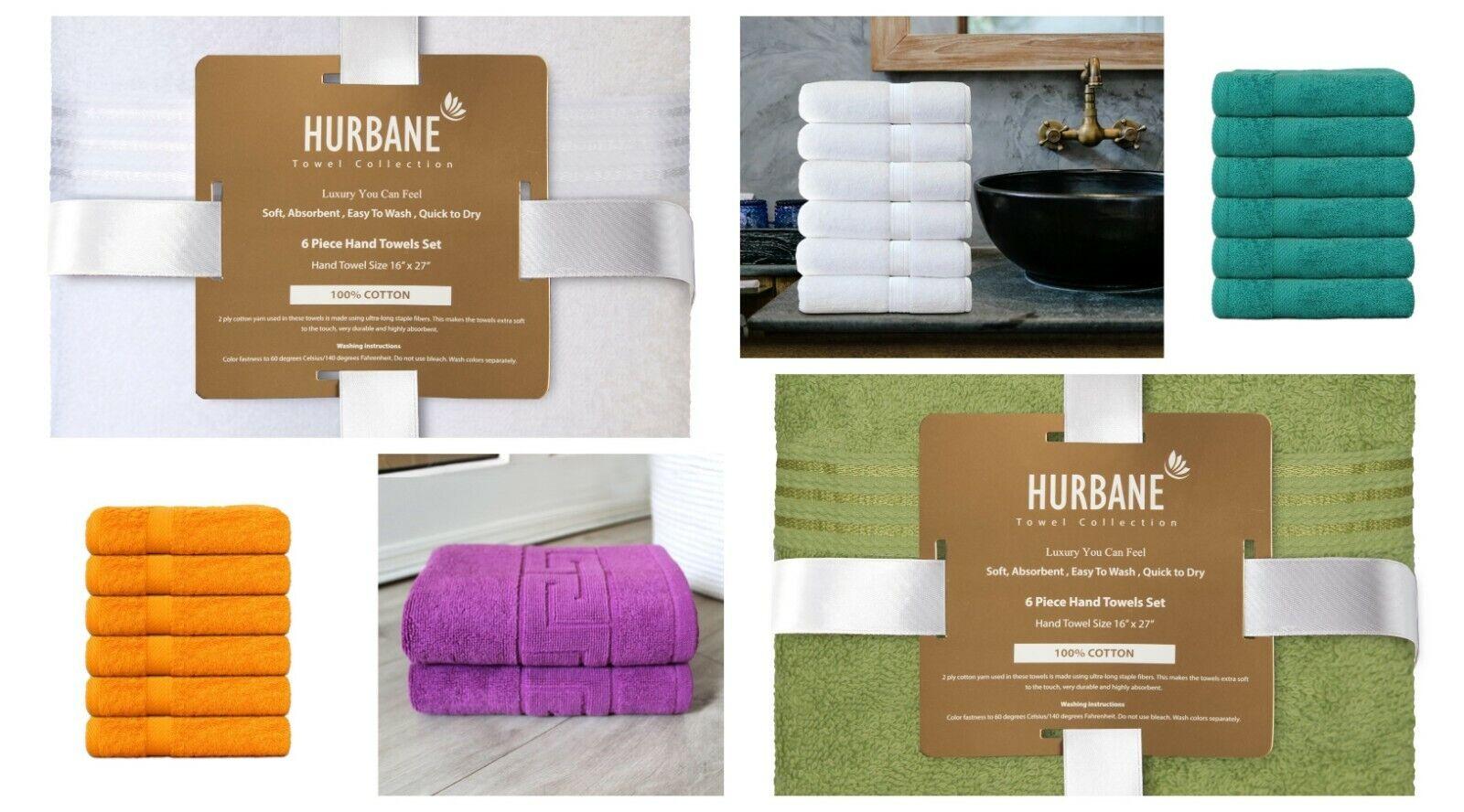 Cotton Hand Towels 16x27 for Bathroom Salon Gym Spa Quick Dry 550gsm HQ Towel US