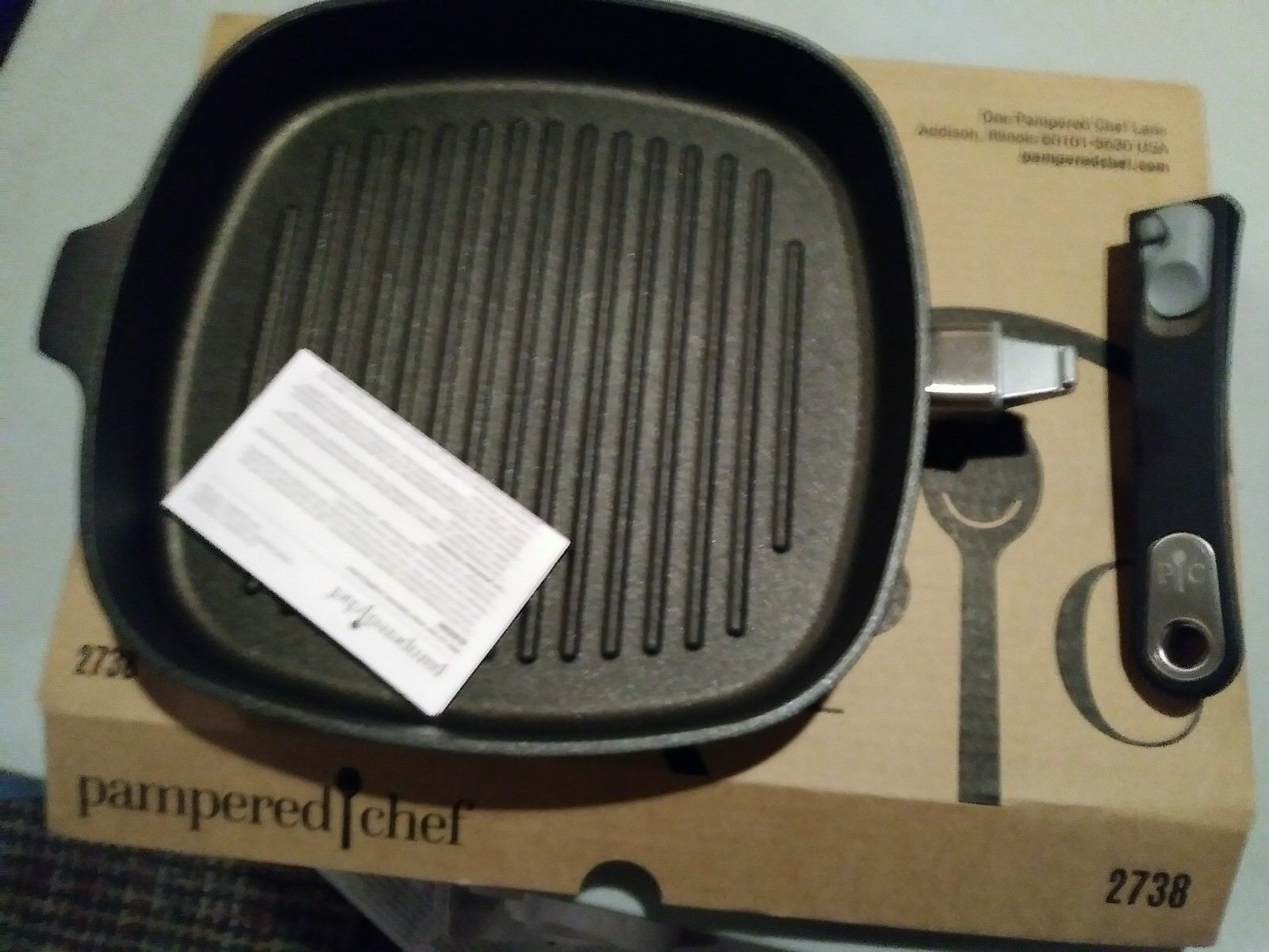 Pamperouge Chef Comme neuf condition-Grill Pan livraison gratuite  2738