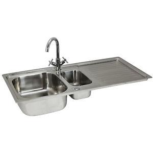 Fregadero-de-Cocina-en-Acero-Inoxidable-105cm-x-50cm-con-Grifo-Victoria