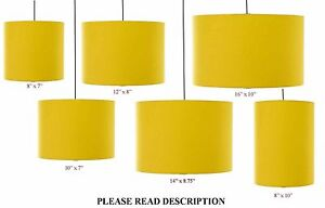 mustard yellow drum cylinder lampshade 15cm 20cm 25cm. Black Bedroom Furniture Sets. Home Design Ideas