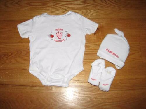 NEW Baby Boys Girls IU INDIANA HOOSIERS Creeper Hat Booties Size 0//6M 0//6 Mo NB