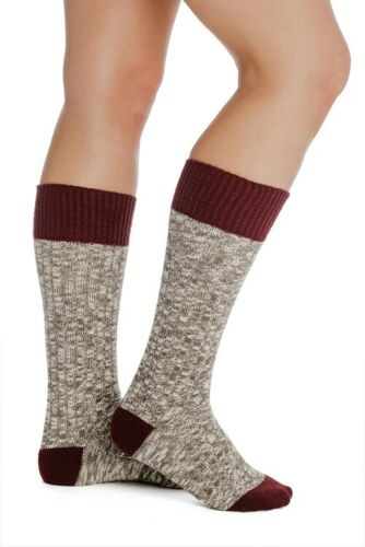 Horseware Kids Warm Long Knee Length Winter Wooly Socks Grey//Petrol//Lilac 29-35