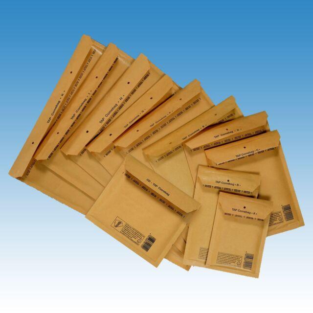 8 H 100 Luftpolstertaschen Gr goldgelb TAP Luftpolsteumschläge Versandtaschen