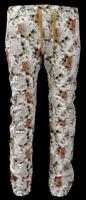 Men's American Locker Drop Crotch Slim Fit Floral Print Stone Color Joggers S-xl