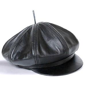 32ba19834984b2 Men's Fashion Winter Warm Leather Caps Hats Cowboy Pippi Cap Art ...