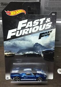 Ford-GT-40-Automobile-Fast-amp-Furious-Auto-1-64-6-CM-Hot-Wheels-Fast-Five-Car