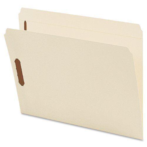 "8.50/"" X Letter Smead 14513 Manila Fastener File Folders With Reinforced Tab"