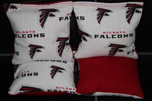 Cornhole Bean Bags made w ATLANTA FALCONS Set of 4 ACA Regulation Bags
