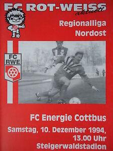 Programm 1994/95 Rot Weiß Erfurt - Energie Cottbus - <span itemprop=availableAtOrFrom>Lübbenau / Spreewald, Deutschland</span> - Vollständige Widerrufsbelehrung -------------------------------------- Widerrufsbelehrung & Widerrufsformular -------------------------------------- Verbrauchern steht ein Wid - Lübbenau / Spreewald, Deutschland