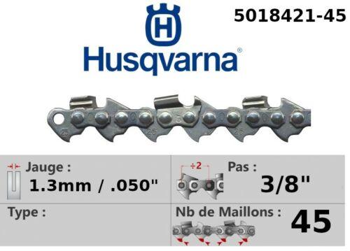 "Chainsaw chain husqvarna 3//8/"" 1.3mm 45 trainers ref 5018421-45"