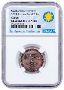 2019-Smithsonian-Russian-Beard-Token-Copper-Antiqued-Medal-NGC-GEM-BU-SKU55981