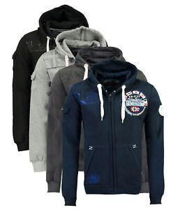 Felpa-GEOGRAPHICAL-NORWAY-Fudicael-maglia-maniche-lunghe-Uomo-Zip-Cappuccio-WR52