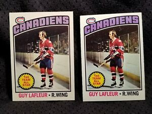 1976-77-OPC-O-PEE-CHEE-Topps-163-GUY-LAFLEUR-EX-MONTREAL-CANADIENS-HOCKEY-CARD