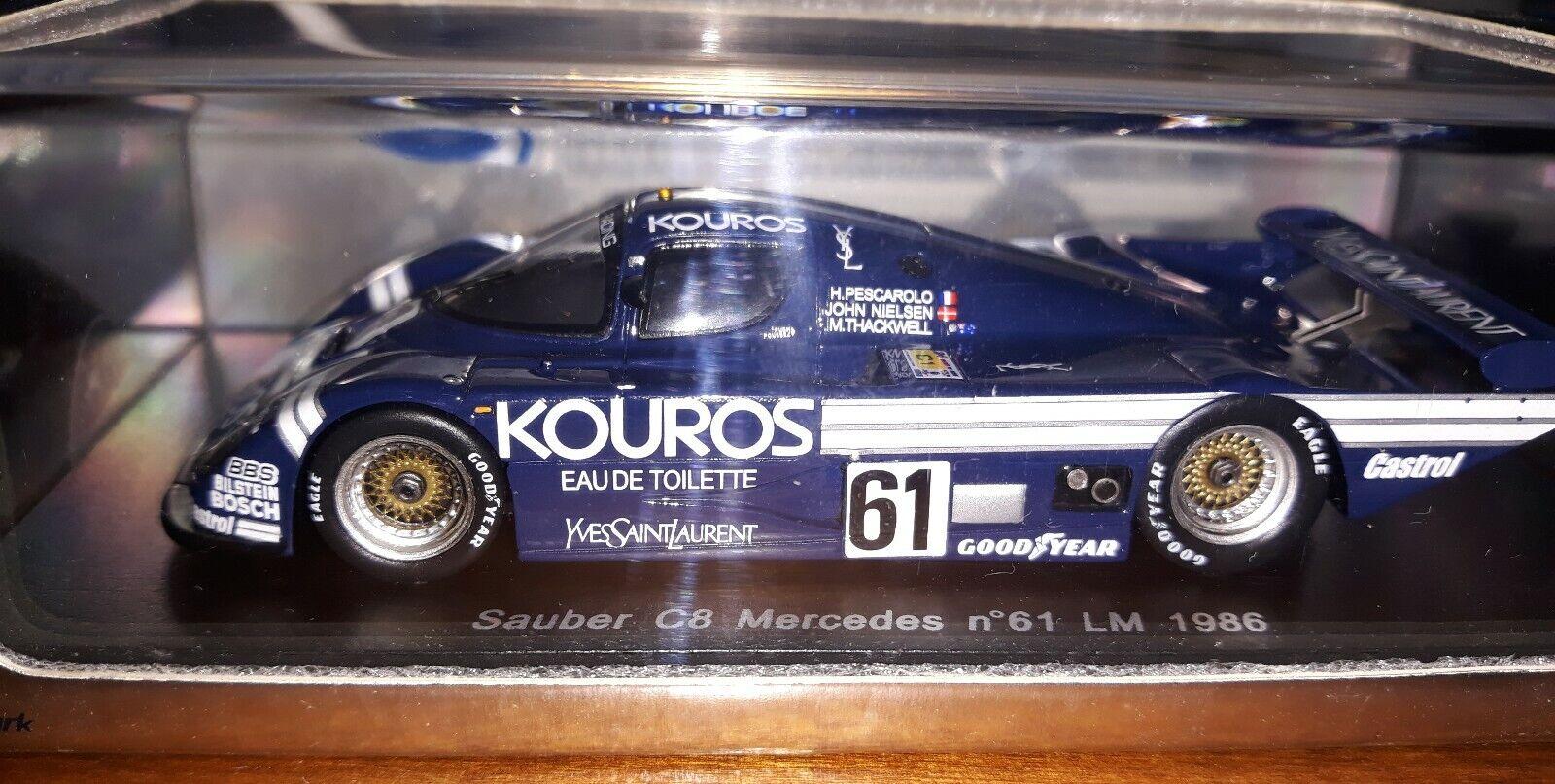 Spark 1 43 Sauber C8 Mercedes  61  Le Mans 1986 S1259  parfait