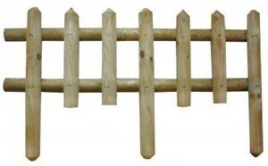Steccato Estensibile Giardino : Steccato in legno cm h recinto recinzione staccionata