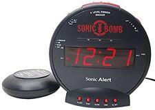 Sonic Bomb Alert Boom SBB500ss Loud Plus Vibrating Alarm Clock with Bed Shaker