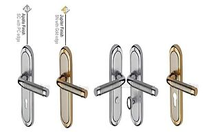 Heritage Brass - SAT1000 - Saturn Design Door Handle 189mm x 48mm x 11mm