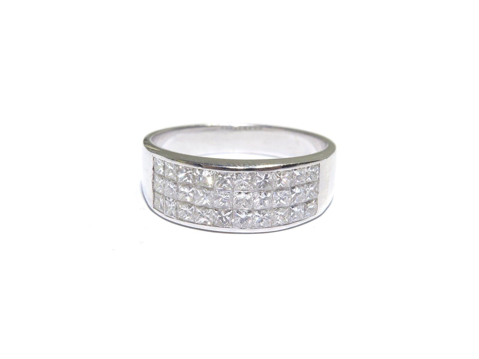 ac441800ec22a White 18k gold Setting Ring Diamond White 1.08ct Invisible Cut ...