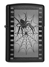 ZIPPO Feuerzeug SPIDER WEB FILM Black matte Katalog 2015 Spinne Netz NEU OVP